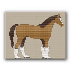 Wilde Pferde gestiefelt