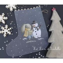 Lapin et bonhomme de neige